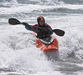 New Plymouth Eastend Beach kayaker.jpg
