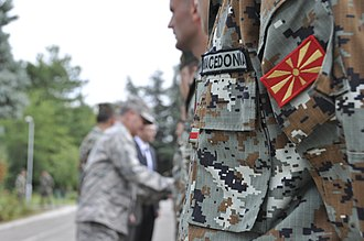Army of the Republic of Macedonia - Image: New VTNG adjutant general moves Macedonia partnership forward 130912 Z DH905 323