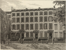 [an engraving of C. L. Blood's New York office]