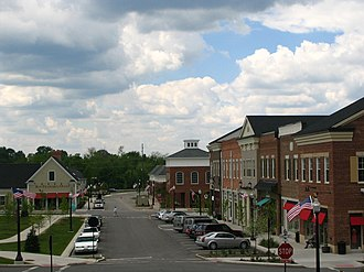 """Hudson, Ohio - The """"First and Main"""" shopping district"""
