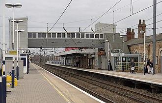 Newark North Gate railway station - Image: Newark North Gate railway station MMB 02