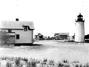 Newburyport Harbor Light - The current tower, built in 1898.  U.S. Coast Guard photo