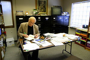 Joe Nickell - Joe Nickell in his office Amherst, New York, 2013