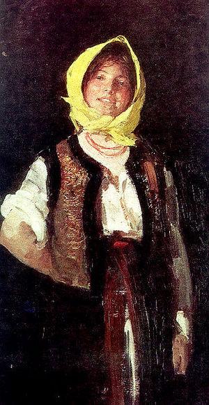 Nicolae Grigorescu - Image: Nicolae Grigorescu Taranca voioasa