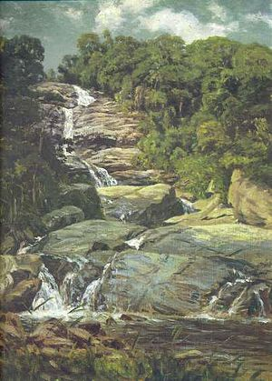 Tijuca Forest - Cascatinha da Tijuca (Small Cascade in Tijuca), by Nicolas-Antoine Taunay (1755–1830).