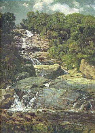 Tijuca Forest - Cascatinha da Tijuca (Small Cascade in Tijuca), by Nicolas-Antoine Taunay (1755–1830).