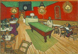 The Night Café - Watercolour, private collection