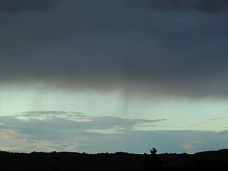 Virga clouds supplementary feature; precipitation that doesnt reach the ground