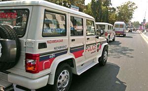 Nizamabad, Telangana - Nizamabad Police SUV