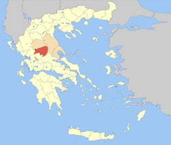 Karditsa within Greece