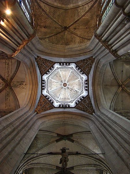 Évreux Cathedral, Eure, Normandie, France. The octagonal central tower.