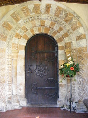 Horton, Berkshire - Norman north door of St Michael's parish church