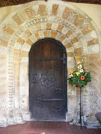 Horton, Berkshire - Norman north door of St Michael's parish church