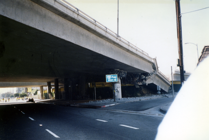 Damage to Interstate 10