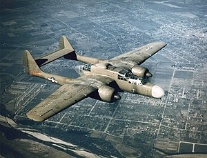 Northrop P-61 Black Widow - A P-61A of 419th Night Fighter Squadron