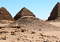 Nuri Pyramid Nu XV (forefront) King Nastasen rc 335-315 310 BCE.jpg