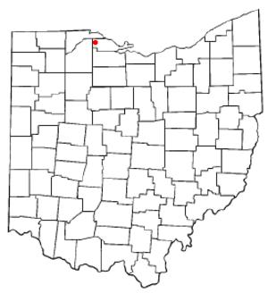 Clay Center, Ohio - Image: OH Map doton Clay Center