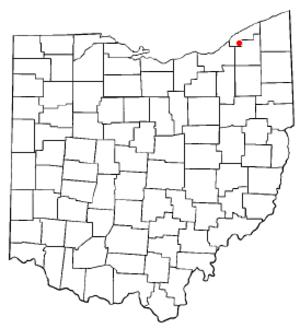 Kirtland, Ohio - Image: OH Map doton Kirtland
