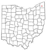 Location of Roaming Shores, Ohio