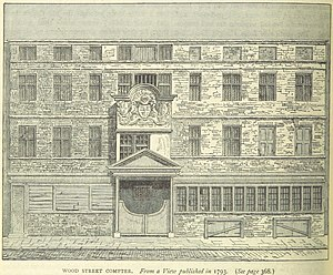 Wood Street Compter - The Wood Street Compter in 1793