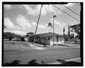 Oblique view of southeast corner of the building - Ward B-3, 45-720 Keaahala Road, Kaneohe, Honolulu County, HI HABS HI-538-2.tif