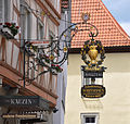 Ochsenfurt Gasthof zum Kauzen Wirtshausschild.jpg