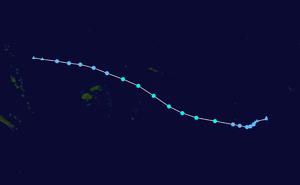 1979–80 South Pacific cyclone season - Image: Ofa 1979 track