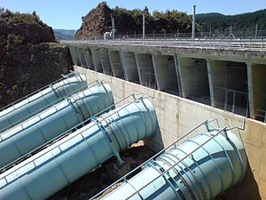 Penstock - Penstocks at the Ohakuri Dam, New Zealand.