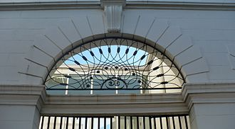 Old City Hall (Mobile, Alabama) - Detail of the arcade ironwork.