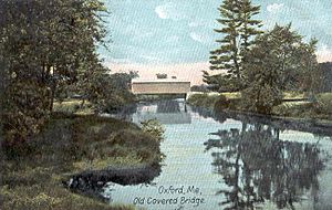 Oxford, Maine - Image: Old Covered Bridge, Oxford, ME