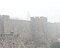 Old Jerusalem Walls in Fog-2 (8425737755).jpg
