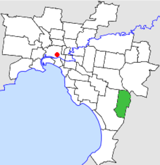 City of Dandenong - Location in Melbourne
