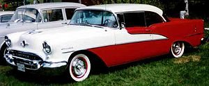 W.W. and the Dixie Dancekings - Example of a 1955 two door Oldsmobile Holiday 88
