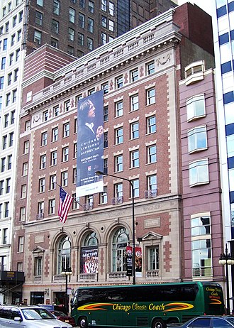 Cliff Dwellers Club - Symphony Center, home of Cliff Dwellers Club from 1907 through 1996