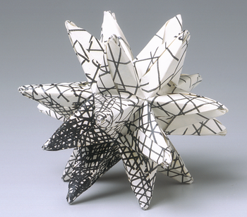 Modular origami stellated icosahedron made fro...