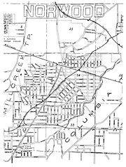 Original Map Norwood Ohio Founded 1888