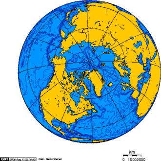 HMS Alert (1856) - An orthographic projection showing the location of Alert, Nunavut