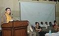 Oscar Fernandes addressing after presenting the smart cards under the Rashtriya Swasthya Bima Yojna (RSBY) to autotaxi drivers, in Faridabad, Haryana on February 27, 2014.jpg