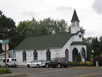 Veneta, Oregon - Former church in Veneta, now a restaurant