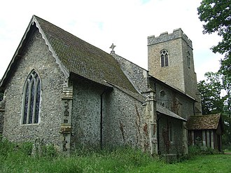 Grade II* listed buildings in Mid Suffolk - Image: Our Lady of Grace Aspall geograph.org.uk 1364239
