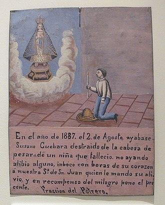 Our Lady of San Juan de los Lagos - Image: Our Lady of San Juan de los Lagos votive 1887