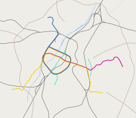 Outline map metro and rail Brussels.svg