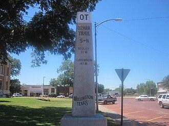 Wellington, Texas - Image: Ozark Trail, Wellington, TX IMG 6177