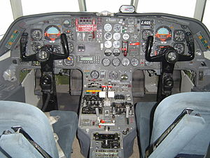 Dassault Falcon 20 - Cockpit of a Pakistan Air Force Falcon 20