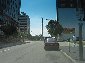 Pennsylvania Route 145 - PA 145 at 7th Street at the Sailors and Soldiers Monument in Allentown
