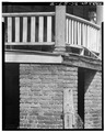 PORTICO COLUMN BASE AND BRICK PIER. BALUSTRADE IS NEW. - Lawson's Pond, Eutaw Springs, Orangeburg County, SC HABS SC,8-EUTA.V,3-8.tif