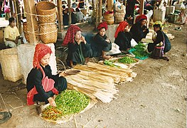 Pa-O women selling vegetables, Myanmar.jpg