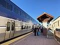 Pacific Surfliner at Santa Ana station, November 2020.jpg