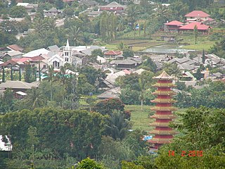 Tomohon City in North Sulawesi, Indonesia