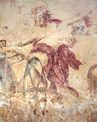 Ancient Greek art - Hades abducting Persephone, 4th-century BC wall painting in the small Macedonian royal tomb at Vergina